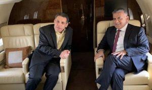 بالصورة: ابراهيم ونزار زكا في الطائرة الى بيروت