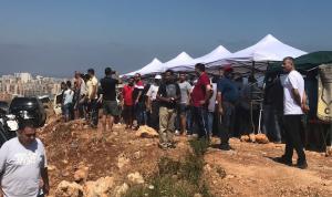 اعتصام في الموقع المنوي تحويله إلى مكب للنفايات في زغرتا