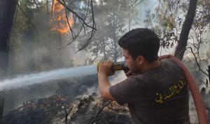 إهماد حريق في العذرا – كسروان