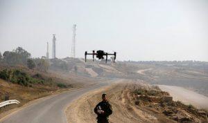 تحطم طائرة مسيرة اسرائيلية في غزة
