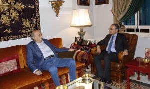 المستجدات السياسية بين جنبلاط والسفير المصري