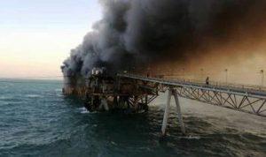 العراق.. اندلاع حريق بميناء نفطي في البصرة