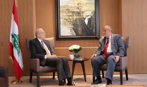 ميقاتي اطلع من كوبيش على مناقشات الأمم المتحدة بشأن لبنان
