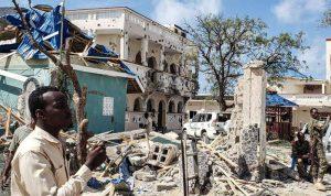 انفجار ضخم في العاصمة الصومالية وإطلاق نار