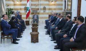عون: حريصون على تعزيز علاقات التعاون مع العراق في المجالات كافة