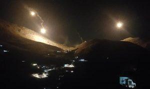 الجيش الاسرائيلي يطلق قنابل مضيئة في أجواء خراج شبعا