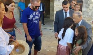 سيرين عبد النور في بيت الدين.. ولقاء مع رئيس الجمهورية (بالصور)