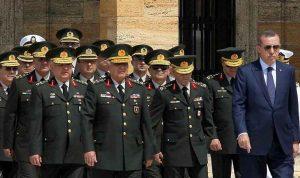استقالة 5 جنرالات في الجيش التركي بسبب قرارات أردوغان