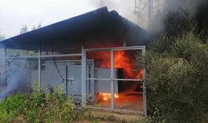 حريق بمولد كهربائي في كسروان