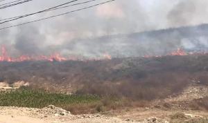 حريق كبير في صور