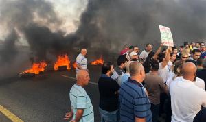 أهالي المخطوف حنوش قطعوا طريق البربارة.. وتهديد بالتصعيد