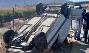 جريح نتيجة انقلاب سيارة في طاران ـ الضنية