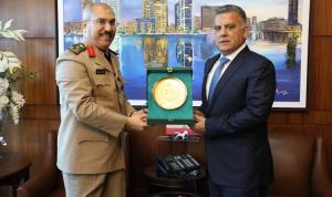 ابراهيم التقى الملحق العسكري الجديد لسفارة السعودية في لبنان