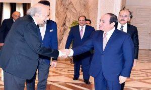 السيسي استقبل جنبلاط: لتجنيب لبنان مخاطر صراعات المنطقة