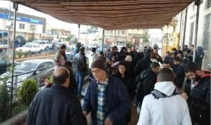 ازدياد أعداد المحتجين في اعتصام بعلبك