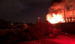 اندلاع حريق في محطة كهرباء