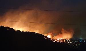 بالفيديو والصور: حريق كبير في حرج المتن المقابل لجعيتا