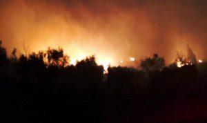 اندلاع حرائق في بلدات عكارية