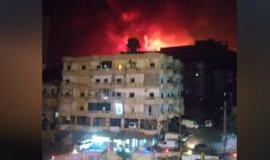 بالفيديو والصور: حريق ضخم في حارة الناعمة