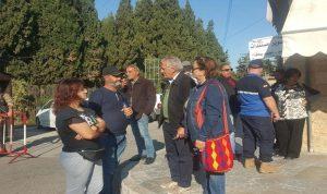 وقفة احتجاجية لحزب 7 أمام سراي بيت الدين