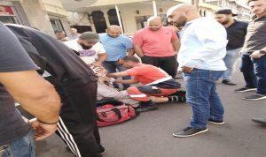 إصابة مواطن صدما في صيدا