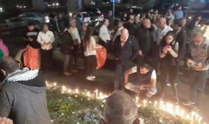 اضاءة شموع في خلدة وصوفر بذكرى أسبوع أبو فخر