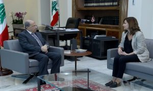 عون اطلع من بستاني على عملية التنقيب عن النفط والغاز