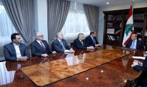 عون التقى وفد المجلس الاقتصادي والاجتماعي