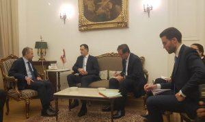 باسيل التقى فارنو: لعدم تدخل أي طرف خارجي على خط الأزمة اللبنانية