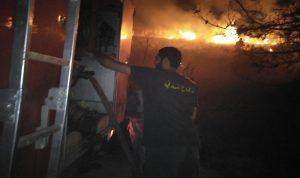3 حرائق في خراج بلدة بينو