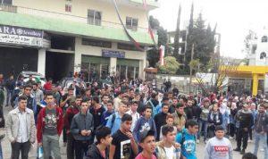 مسيرة طالبية في شوارع حلبا