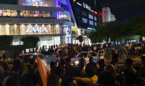 محتجون قطعوا بأجسادهم طريق تقاطع إيليا في صيدا