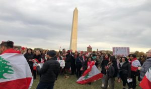 لبنانيو واشنطن يواصلون تضامنهم مع الثورة اللبنانية (فيديو وصور)