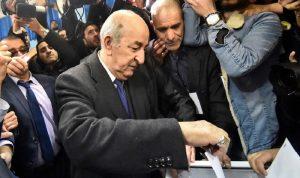عبد المجيد تبون رئيسًا للجزائر بعد اكتساح الدورة الاولى