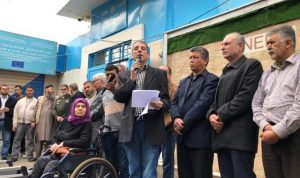 اعتصام فلسطيني في عين الحلوة طالب الاونروا بإعلان خطة إغاثية