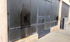 بالصور- الاعتداء على مكتب تيار المستقبل بعكار