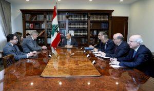 عون أبلغ كوبيتش مشاركة لبنان في اجتماع مجموعة الدعم الدولية