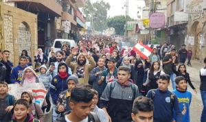 مسيرة طالبية من ببنين الى العبدة