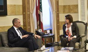 الحسن عرضت مع سفير الاتحاد الاوروبي الوضع العام
