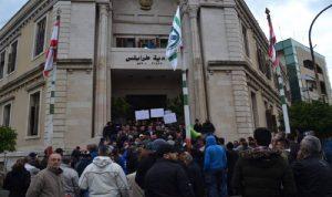 اعتصام لعمال بلدية طرابلس تأييدا لمواقف يمق