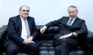 جريصاتي عرض مع سفير اليابان موضوع غصن