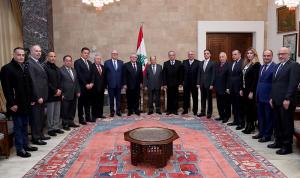 عون لوفد جمعية الصناعيين: يجب تأمين مطالبكم المالية