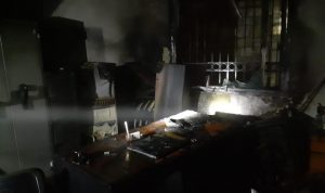 حريق في مصرف في راس المتن – بعبدا (فيديو وصور)