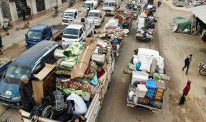 700 ألف سوري نزحوا عن إدلب وسط ضربات جوية مكثفة