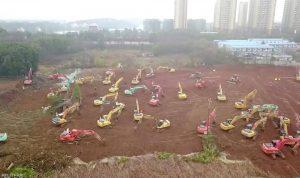 الصين تبني مستشفى في 10 أيام لمواجهة الكورونا