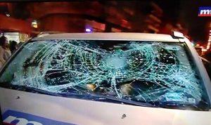 بالفيديو- الاعتداء على فريق الـmtv وتكسير سيارته!