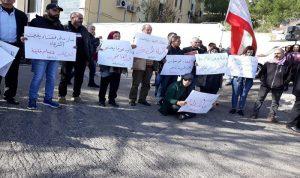 إعتصام أمام قصر عدل النبطية للمطالبة باستقلالية القضاء