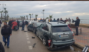 حادث سير مروع عند الكورنيش البحري في صيدا