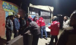 إجلاء نازحين إثر حريق في مخيم تلعباس الغربي