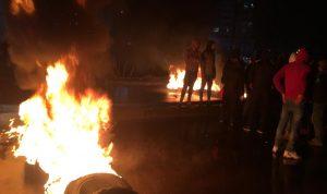 محتجون قطعوا طريق البحصاص عند مدخل طرابلس